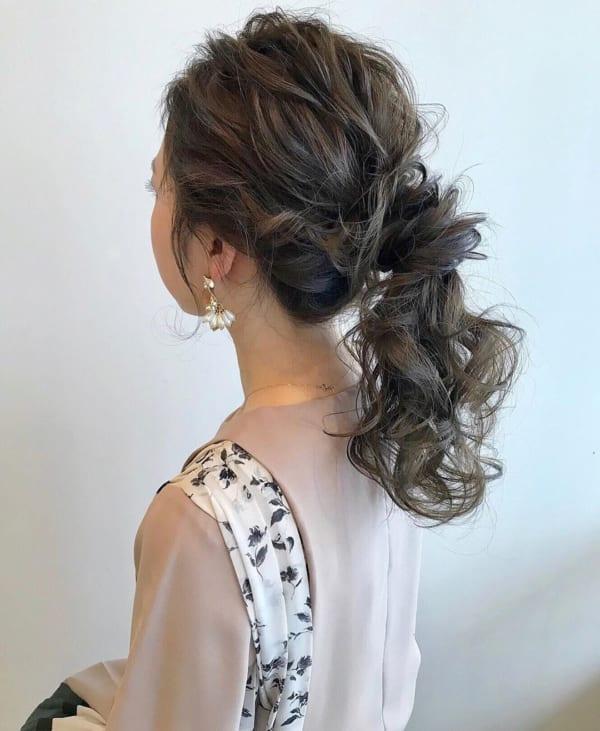 ママ向け!入園式の髪型《ロング×ポニーテール》5