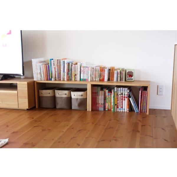 コの字の家具で絵本収納