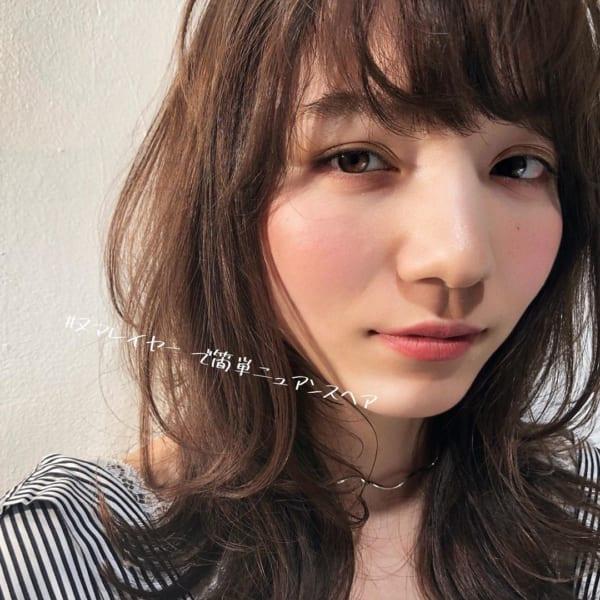 ミディアム×巻き髪×ニュアンスカール