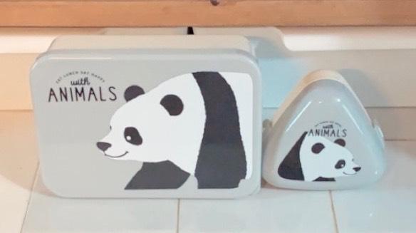 【セリア】パンダのお弁当箱&おにぎりケース
