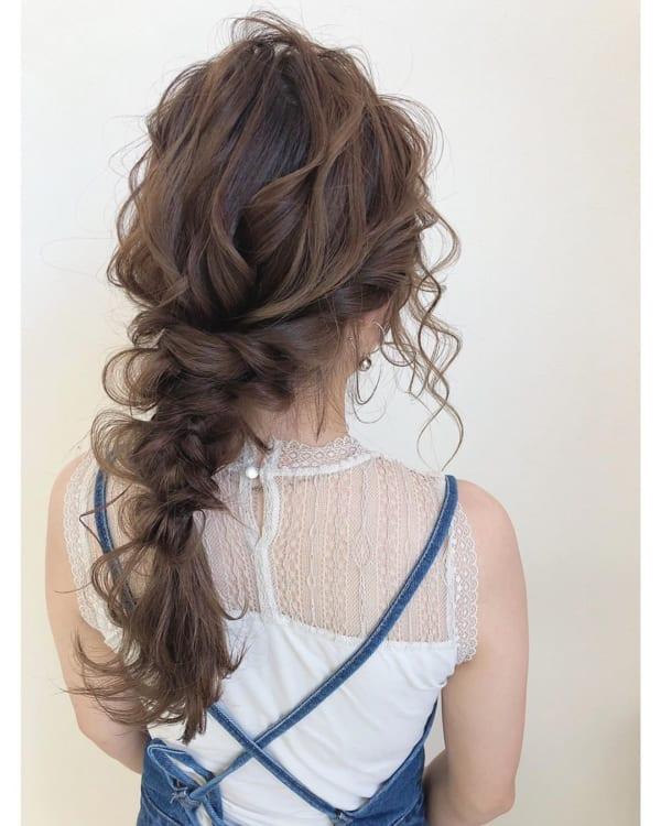 ママ向け!入園式の髪型《ロング×編みおろし》