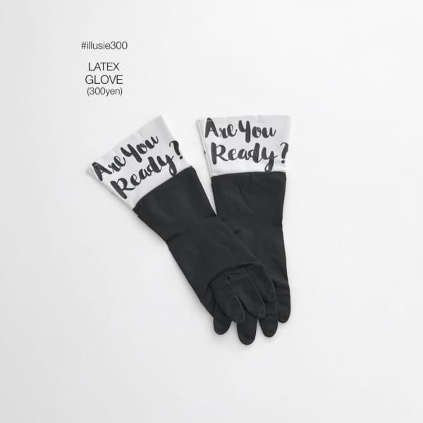 レターズデザインのゴム手袋(illusie300)