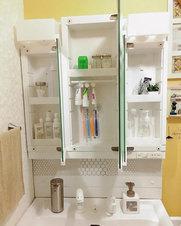 歯ブラシ 収納アイデア