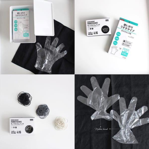 使い捨て派のポリエチレン手袋(ダイソー)