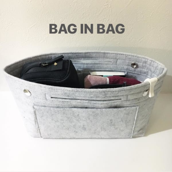 フェルト素材のバッグインバッグ3