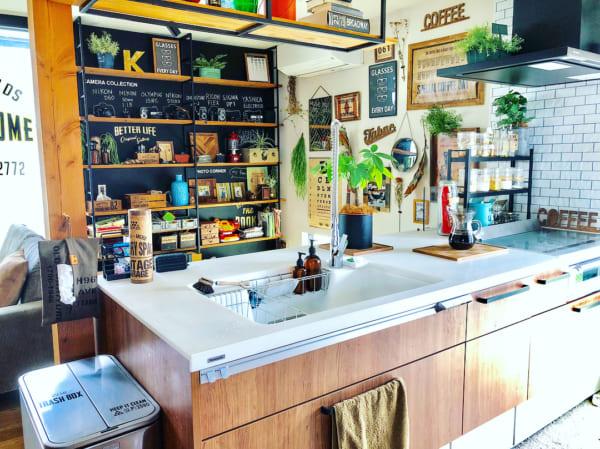 カフェ風のアメリカンなキッチン