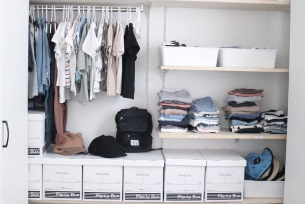 シーズンオフ衣類の収納アイデア