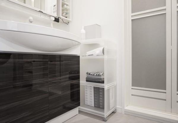 PP収納ラックで洗面所のタオル収納