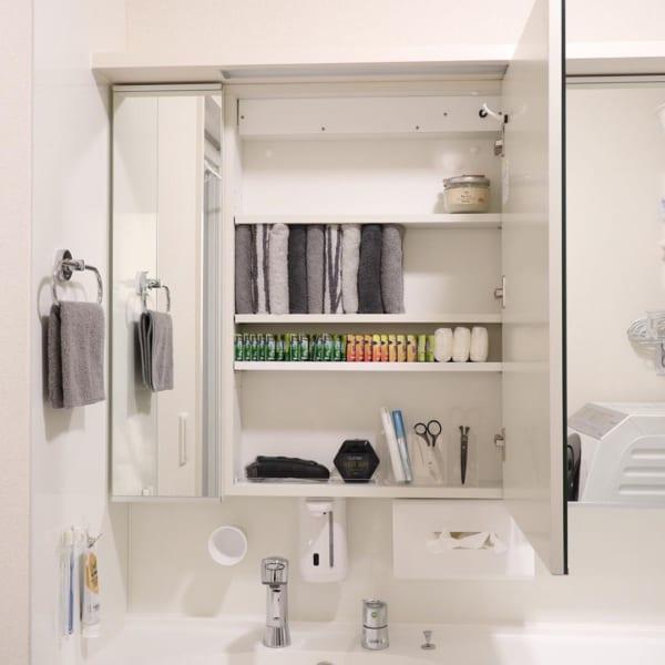 タオルや入浴剤の収納
