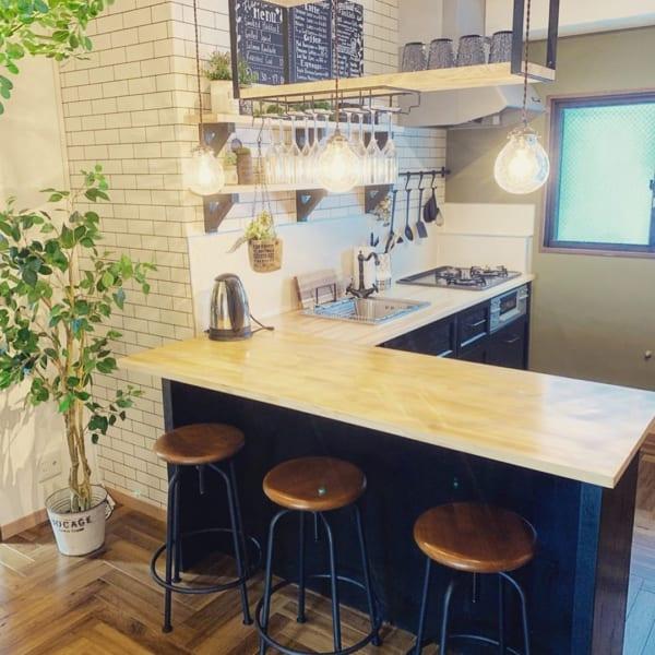 ブルックリンスタイルのキッチン