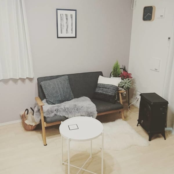 モノトーンのお部屋作り《一人暮らしインテリア》8