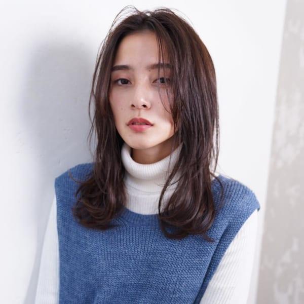 ミディアム×巻き髪×ルーズスタイル