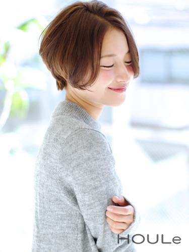 センター分け前髪×ショートヘア《ヘアカラー》7