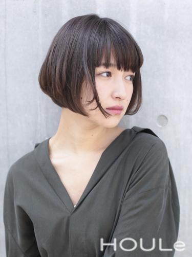 40代女性におすすめのひし形ボブヘア《前髪あり》2