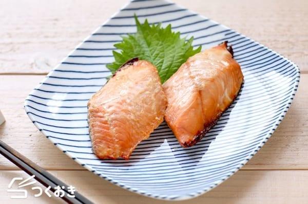 天ぷらにはこの魚の付け合わせに!鮭の西京焼き