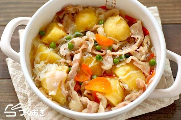 豚バラのお弁当レシピ《煮物》4