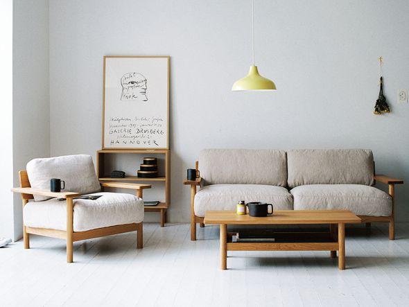 壁際にソファを配置した例2