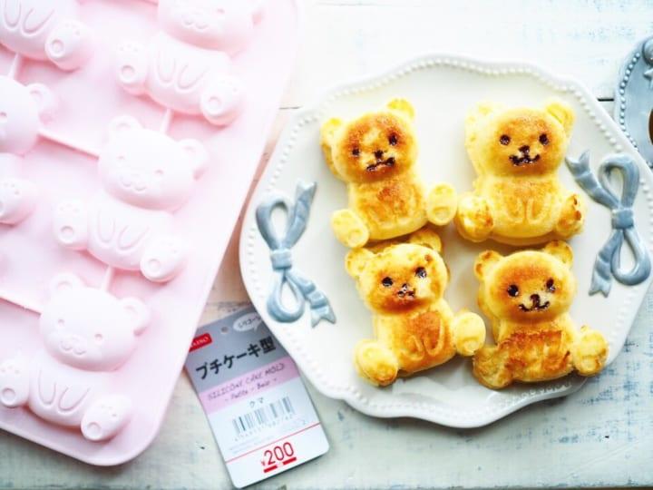 ・ダイソー「シリコーンプチケーキ型 クマ」200円(税抜)