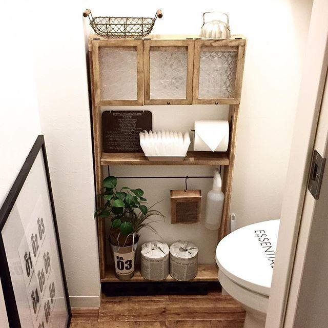 トイレの収納棚DIY11