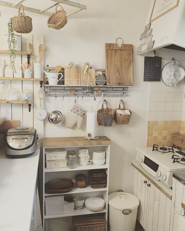 ワンルームのキッチン収納実例