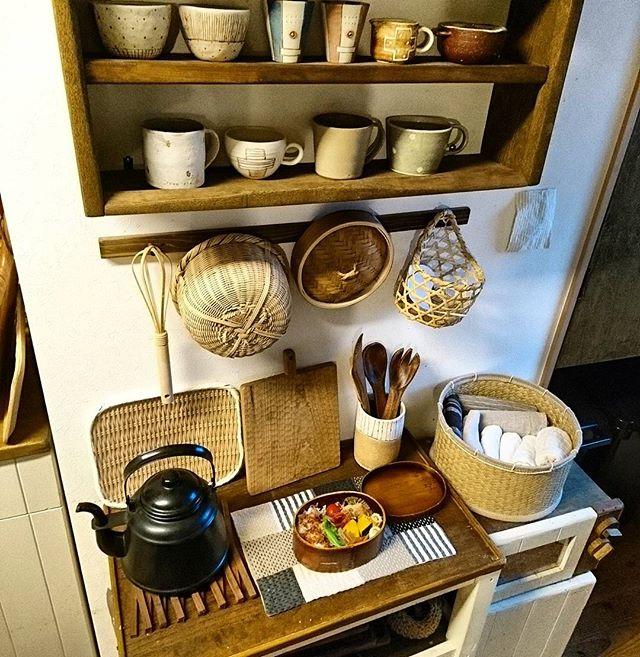 ワンルームのキッチン収納実例3