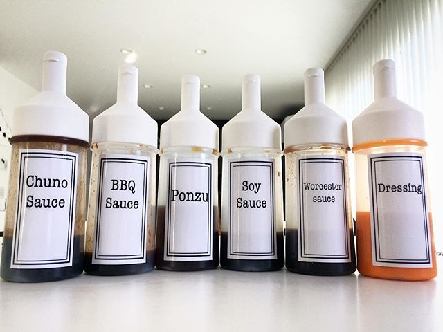 液体調味料のボトルを統一