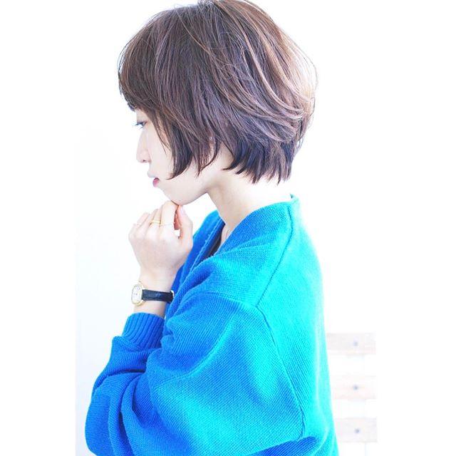 40代女性の前髪あり×ショートボブ《パーマ》2