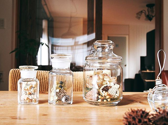 ガラス瓶で簡単DIY
