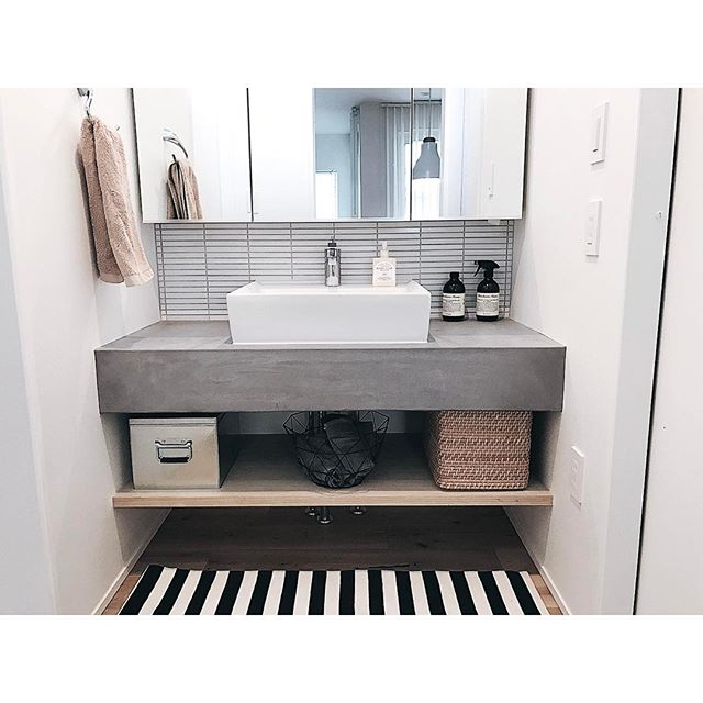 洗面台 おしゃれ 収納