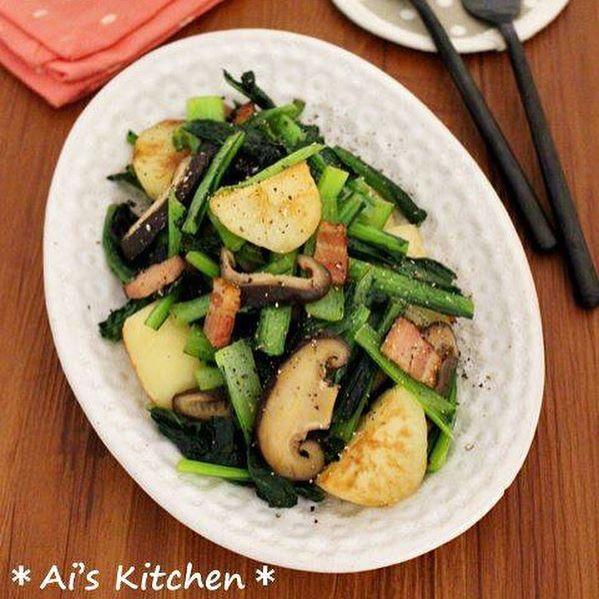 小松菜の簡単な副菜の人気料理《洋風・中華》3