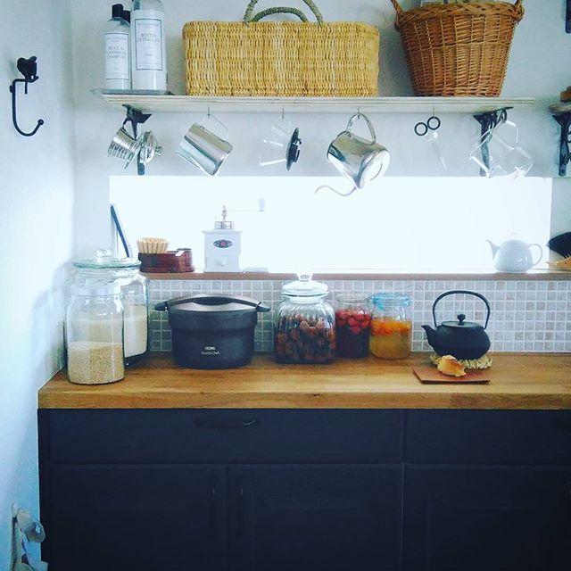 地中海風のキッチンインテリアコーディネート4