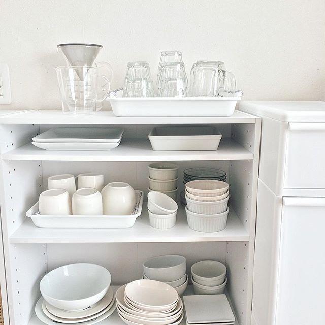 ワンルームのキッチン収納実例2