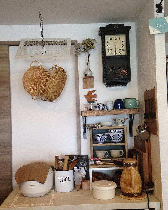 漆喰壁のキッチン2