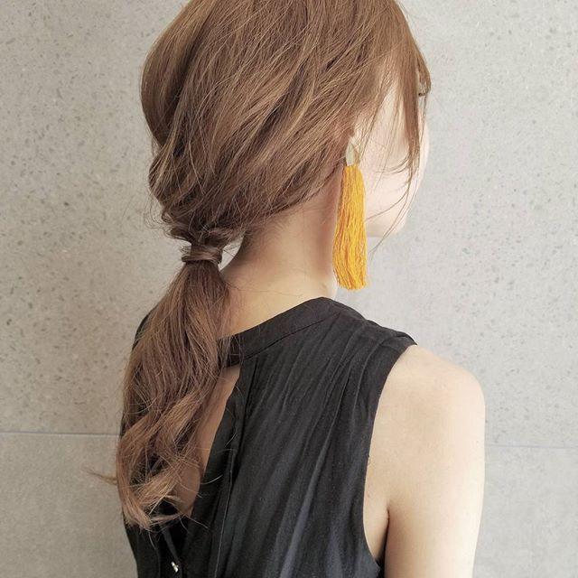 おしゃれなロングのヘアアレンジ