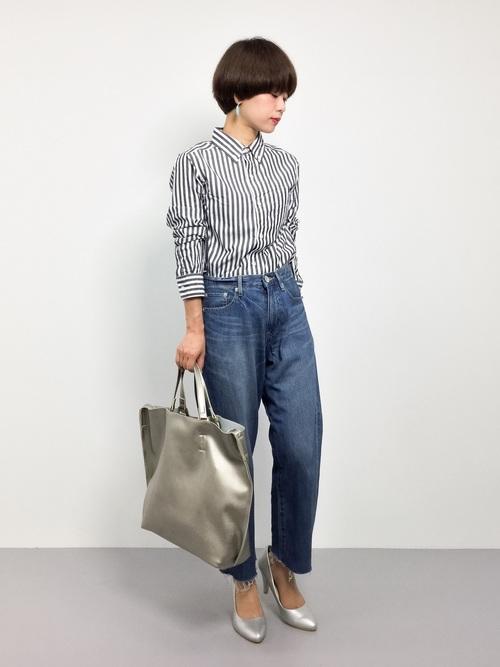 [BEAMS WOMEN] BEAMS BOY / ロンドンストライプ ボタンダウンシャツ