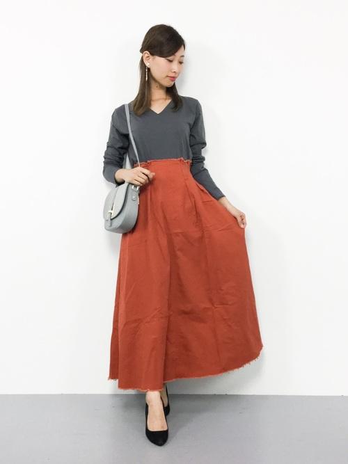 [antiqua] cottonVネックロンT