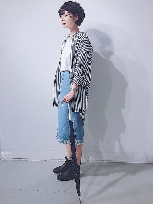 [koe] デニムタイトスカート