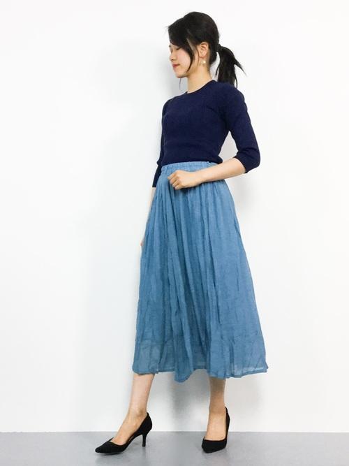 オフィスカジュアル スカート 春5