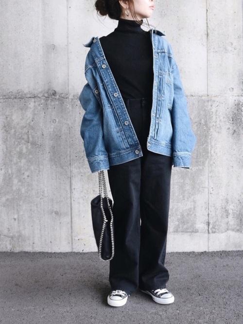 [AZUL BY MOUSSY] 【20190912販売禁止】ハイウエストワイドデニムPT Ⅳ