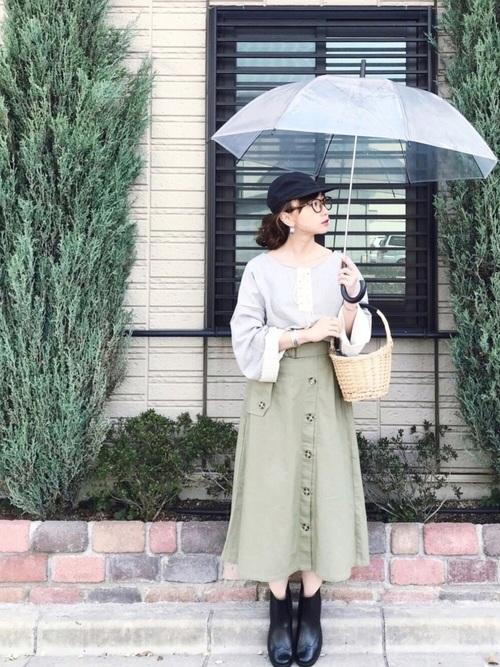 [REAL CUBE] REAL CUBE ベルト付トレンチデザインスカート