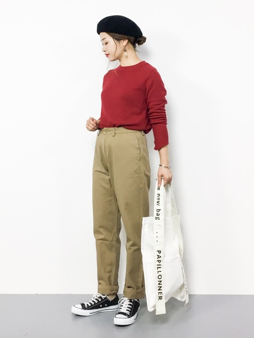[merlot] チノテーパードパンツ005-5527