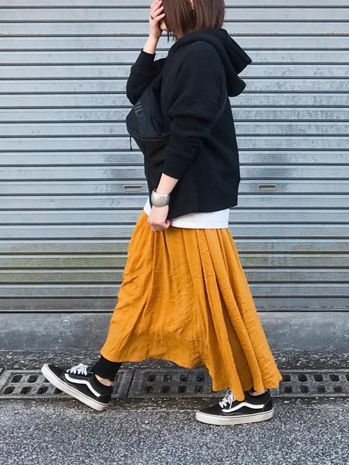 【2020春】ボーイッシュなスカートコーデ4