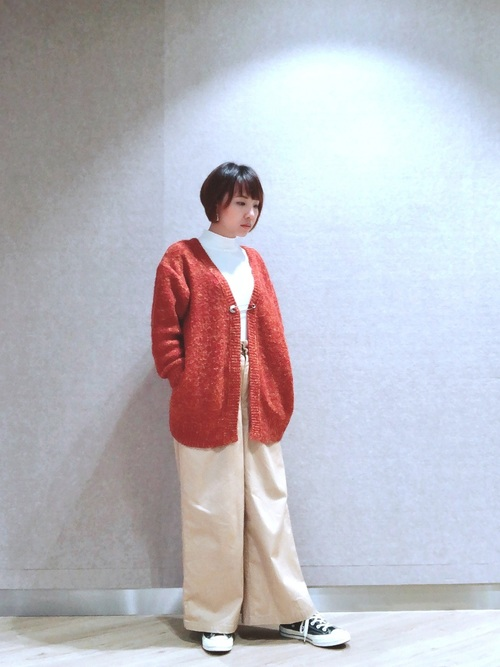 [niko and...] 撚り杢モヘヤ起毛2WAYカーディガン