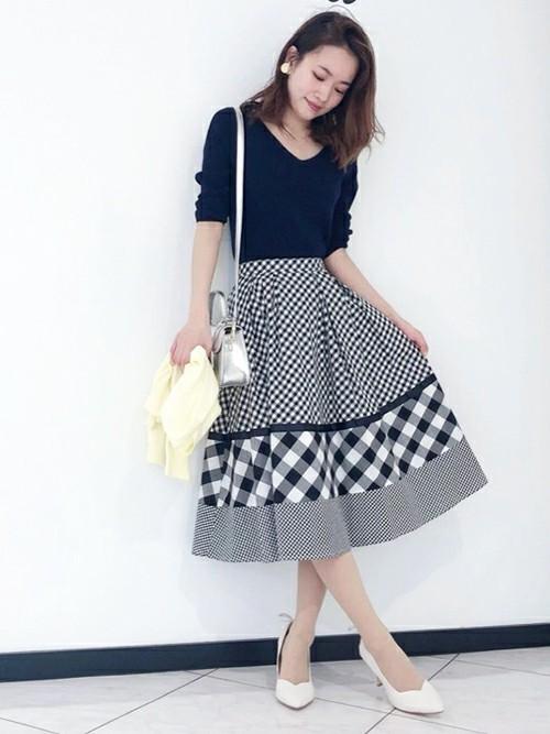 [Noela] ミックスパターンスカート