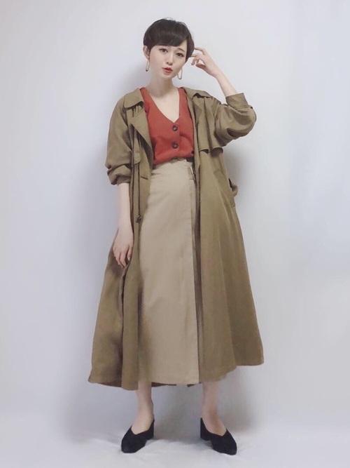 【台湾】4月に最適な服装:スカートコーデ6