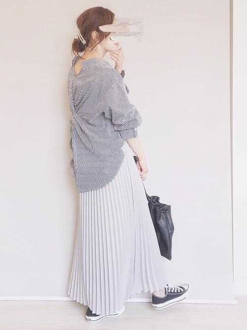 [CORNERS] ジョーゼットプリーツロングスカート