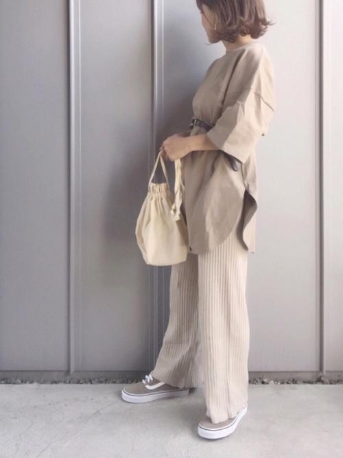 [Auntie Rosa] 【Holiday】リブニットパンツ◆Web限定◆