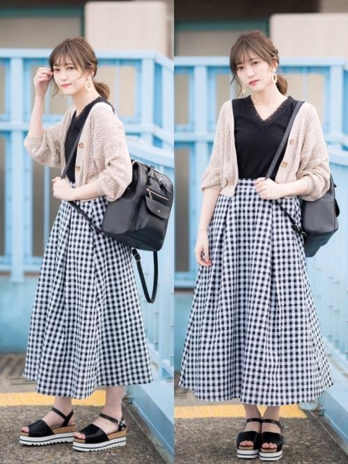 【台湾】4月に最適な服装:スカートコーデ5