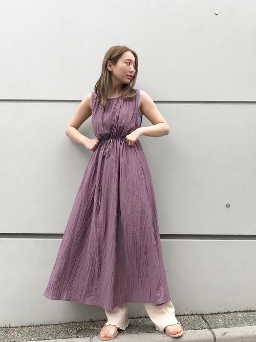 紫ワンピース