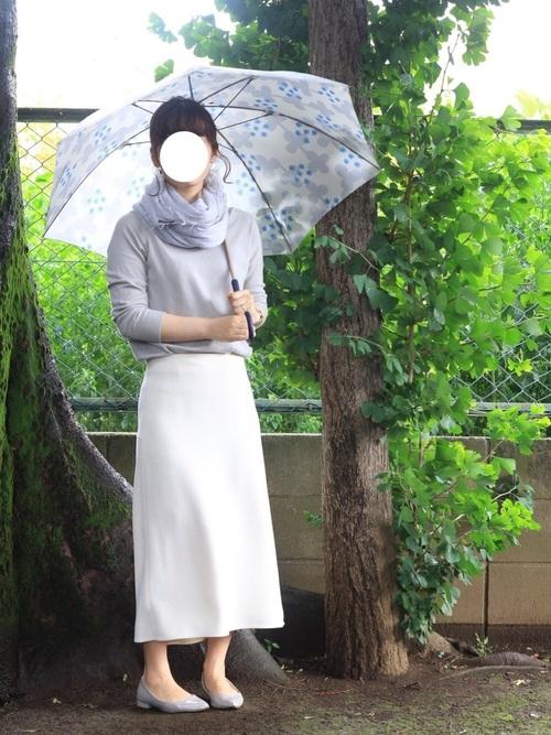 [IENA] 平二重織り後ろフレアスカート◆